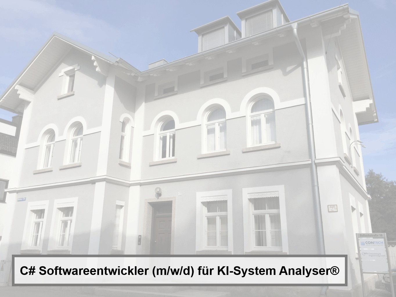C# Softwareentwickler (m/w/d) für KI-System Analyser®